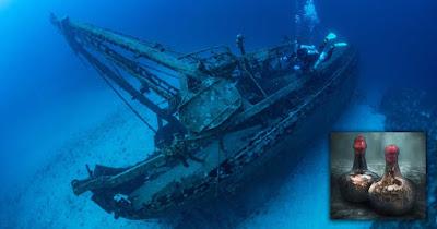 Vino naufragato di 350 anni, scoperto nel Mare del Nord.