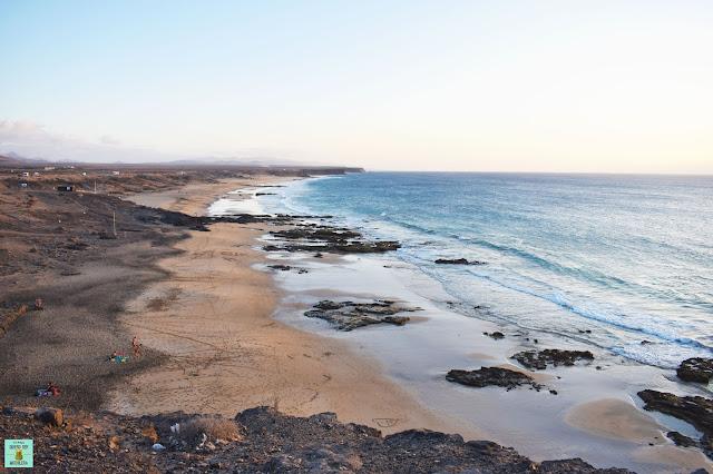 Playa Castillo y Piedra Playa en El Cotillo, Fuerteventura