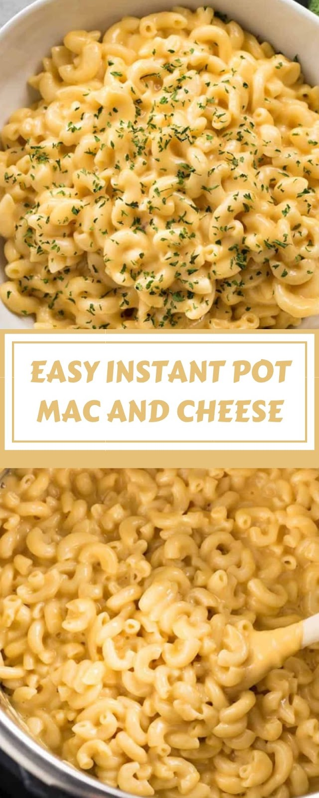 EASY INSTANT POT MAC AND CHEESE