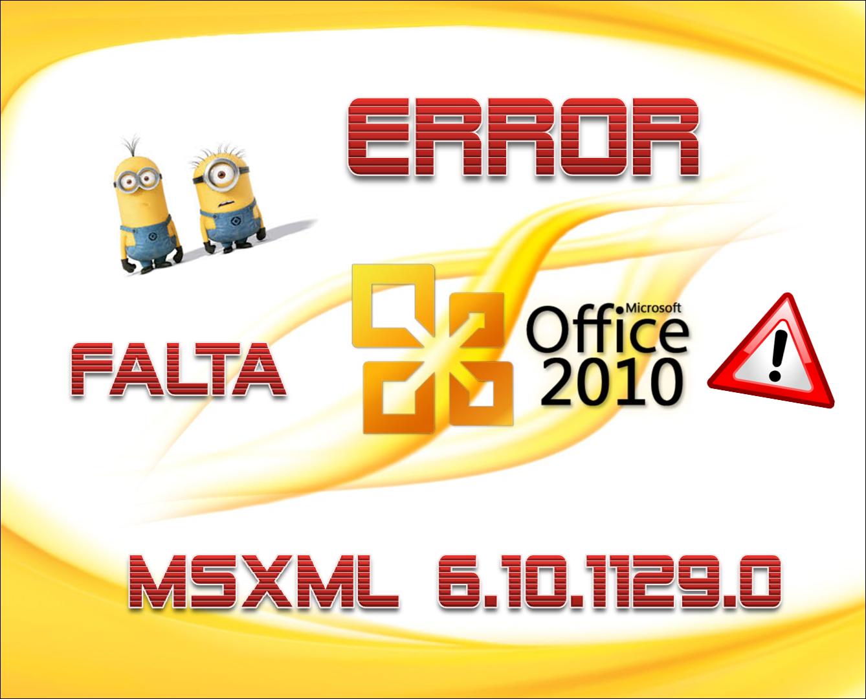msxml 6.10.11 for office 2010