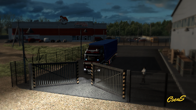 ets 2 animated gates in companies v3.0 screenshots 1