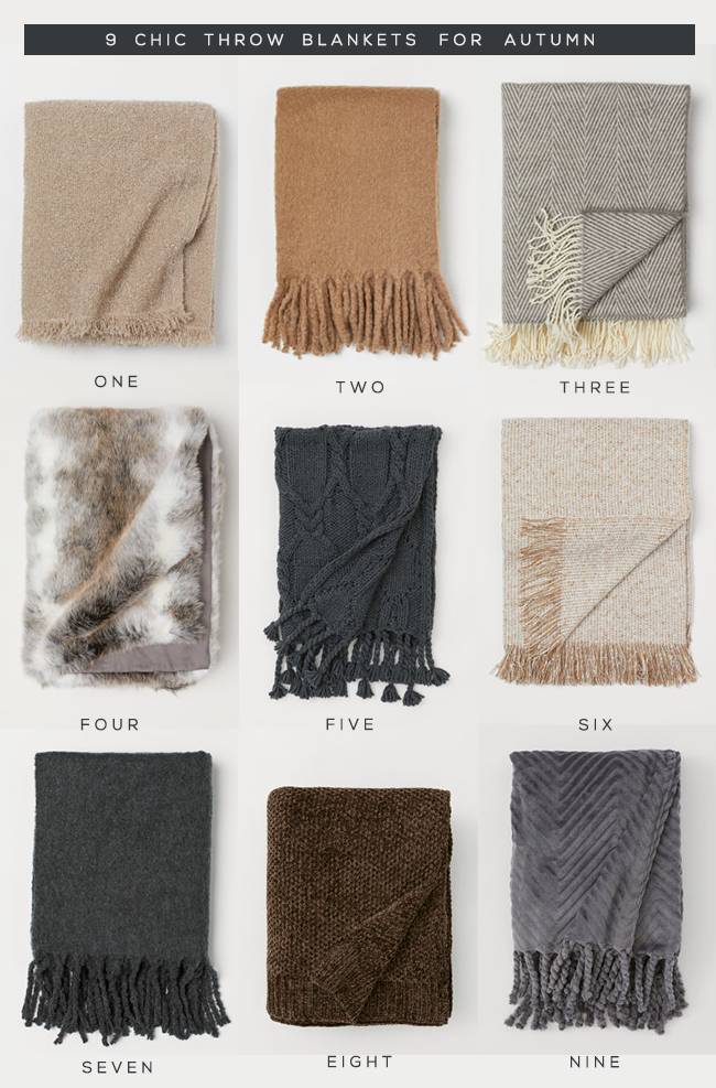 9 Perfect Throw Blankets for Autumn