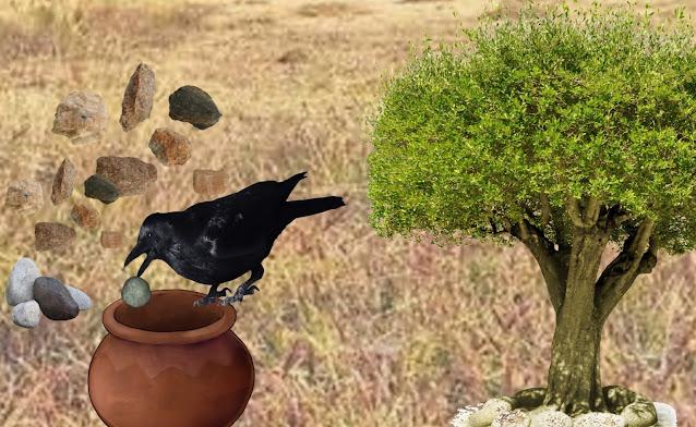 प्यासा कौवा कहानी  , Thirsty Crow Story in Hindi , pyasa kouva, pyasa kouwa, pyasa kauvaa kahani