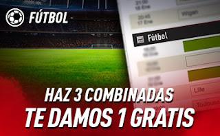 sportium Fútbol: Haz 3 Combinadas ¡y recibe 1 Gratis! 14-20 septiembre 2020