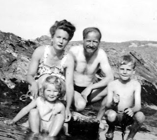 William Golding with His Wife Ann, Daughter Judith & Son David in the Late 1940s