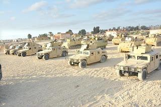 القوات المسلحة تبدأ حملة موسعة لتمشيط ومداهمة عدة مناطق بشمال ووسط سيناء