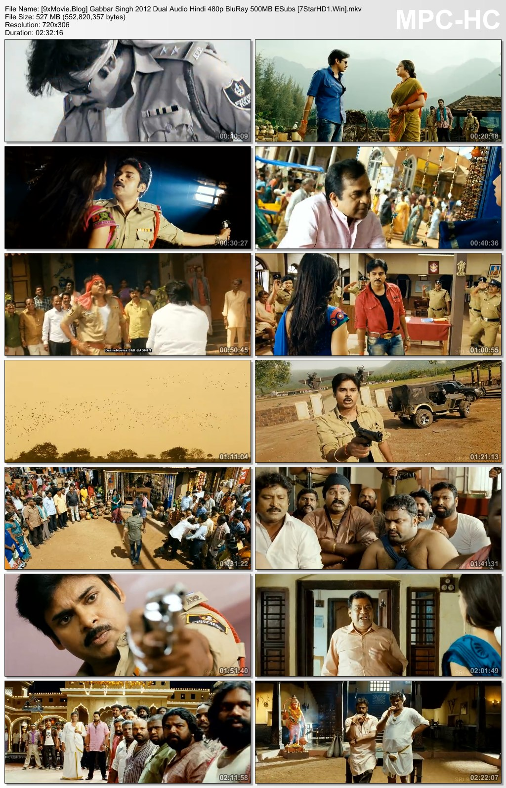 Gabbar Singh 2012 Dual Audio Hindi 480p BluRay x264 500MB ESubs
