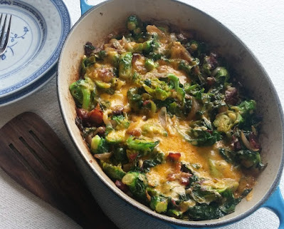 Brussels Sprouts with Bacon & Cheese