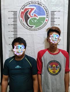 Perangi Narkotika, Polres Pelabuhan Makassar kembali menciduk 2 Pelaku Narkoba