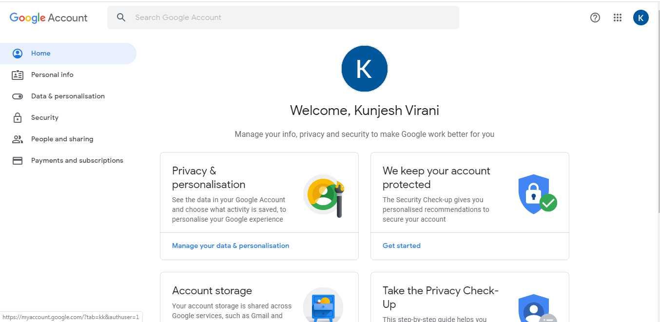 Open Google account - Thanalysis