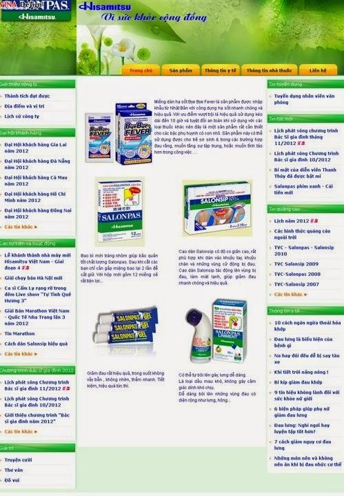 thiết kế web bán hàng dược phẩm chuyên nghiệp