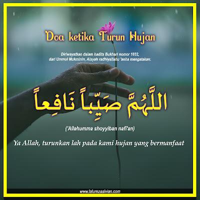 Doa ketika sedang turun hujan