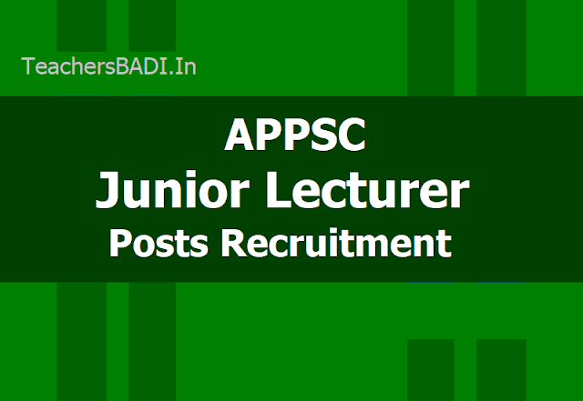APPSC JL Junior Lecturer Posts