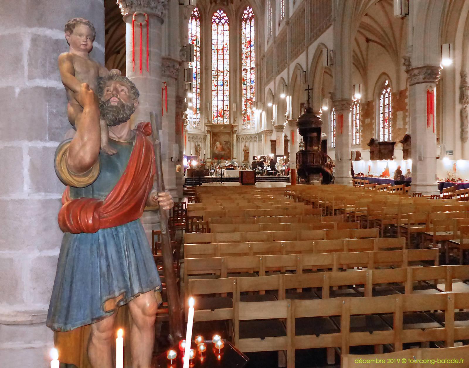 Christophe et Nef Église St Christophe, Tourcoing 2019