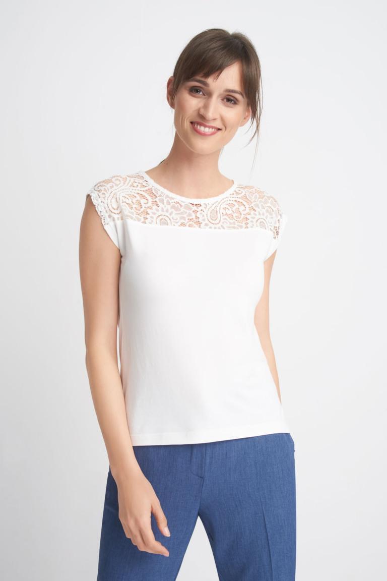 biała bluzka z koronką Quiosque