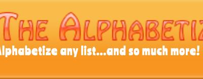 the alphabetizer : organize students' writings