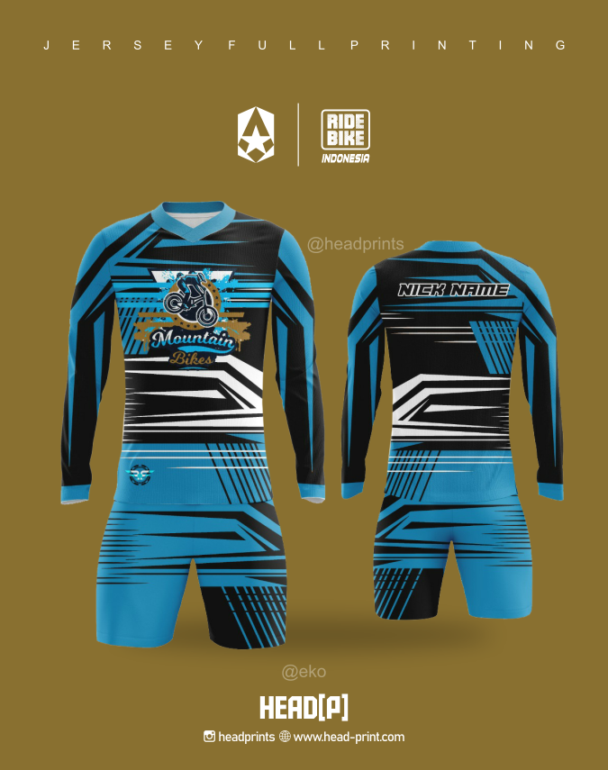 Mountain Bike 3 Community Jersey Custom Full Printing - Head Print Vendor Jersey Jogja