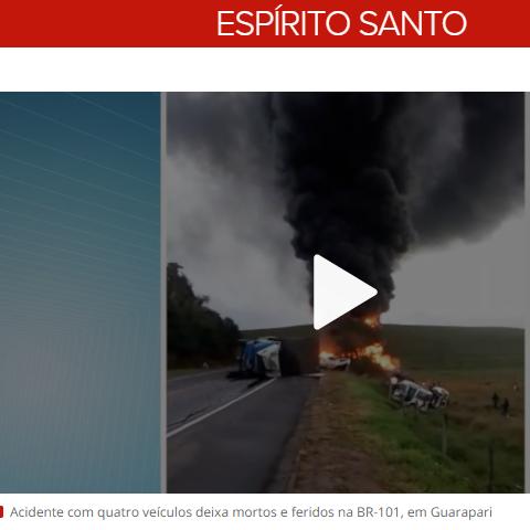 Acidente entre duas ambulâncias, ônibus e carreta deixa 15 mortos na br-101 Brasil