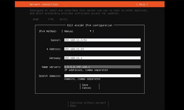 Network Configuration Ubuntu 20.04 CIDR