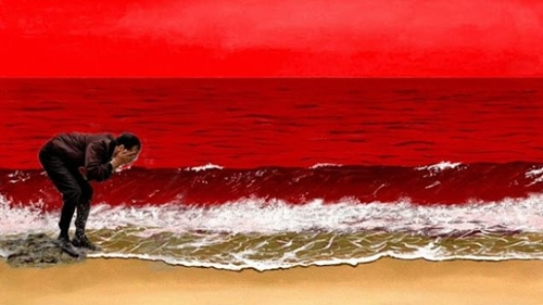Beredar Meme Presiden Jokowi Cuci Muka di Laut Merah yang Dilukis SBY, Netizen: Ambyar