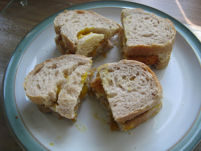 Fish Finger Sandwiches with Piccalilli