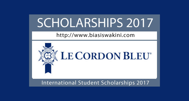 Le Cordon Bleu Scholarships 2017-International Student Scholarships