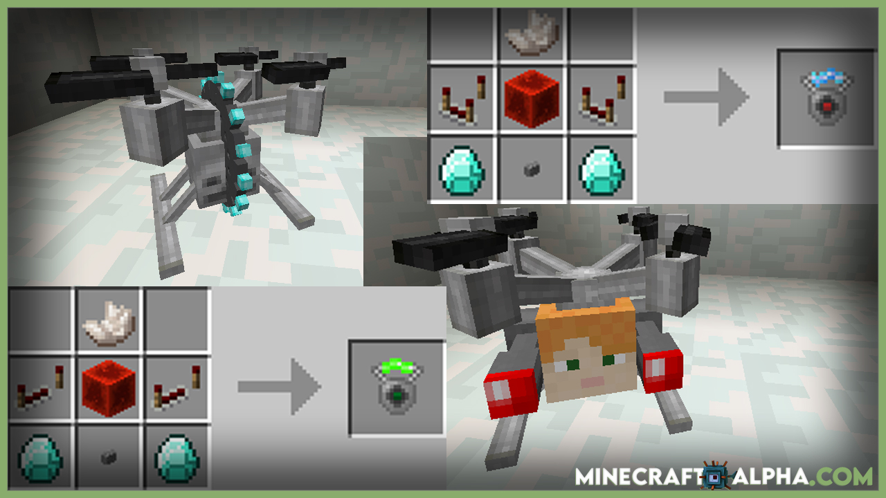 Drones Mod 1.17.1 (Unmanned Aerial Vehicle)