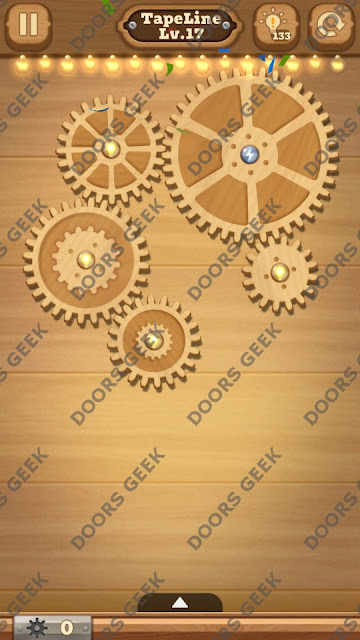 Fix it: Gear Puzzle [TapeLine] Level 17 Solution, Cheats, Walkthrough for Android, iPhone, iPad and iPod