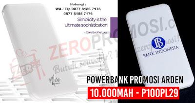 Jual Souvenir Powerbank Promosi ARDEN 10.000mAh - P100PL29, Jual Souvenir dan Merchandise Powerbank di Tangerang, Powerbank arden promosi