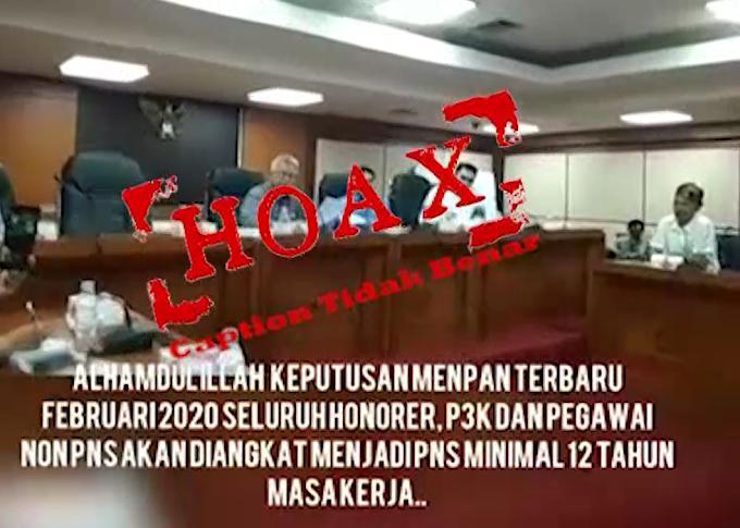 Video Pengangkatan Tenaga Honorer, P3K, dan Pegawai Non-PNS Hoaks