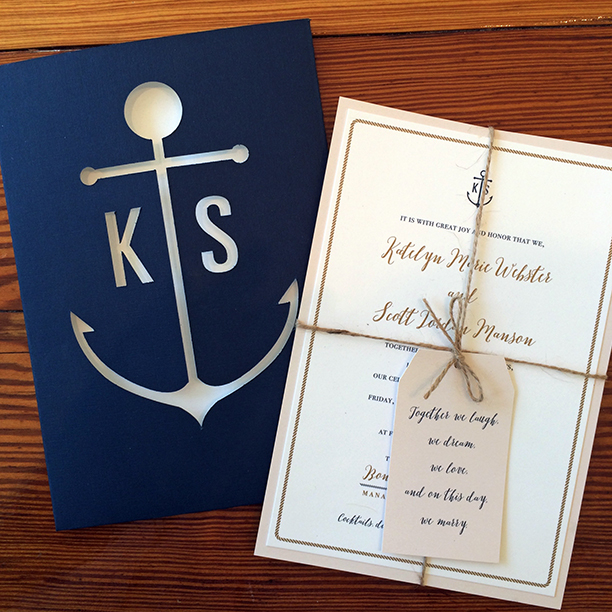 Nautical Wedding Invitations.Invitations Ink Social Design Studio Katelyn And Scott S Nautical