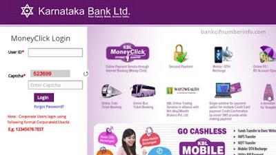 Karnataka Bank Customer ID online