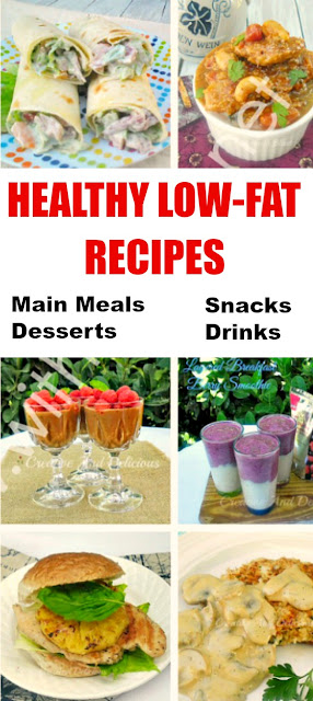 Healthy, low-fat meals and drinks do not mean boring !