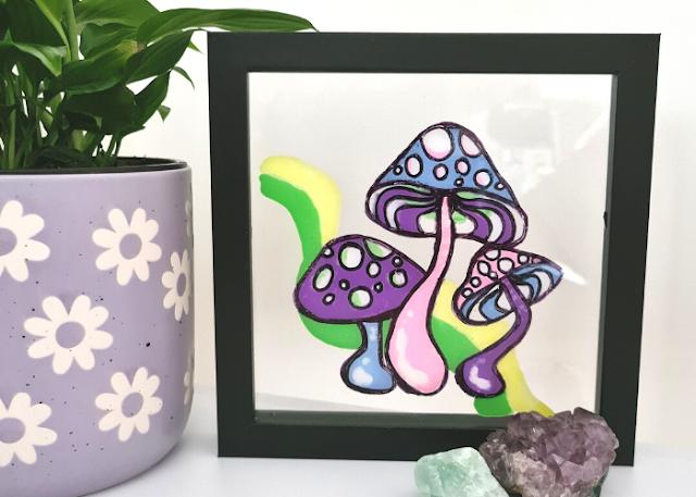 Glass Painting DIY Tik Tok how to reverse glass paint tutorial