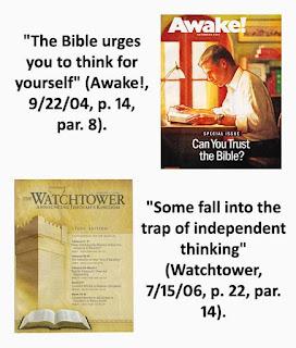 saksi yehuwa hanya boleh memakan mencerrna dan menyerap makanan badan pimpinan tanpa boleh mempertanyakannya dan mengkritiknya