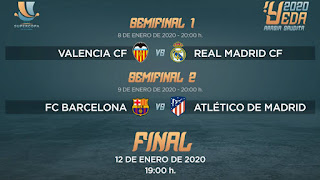 Los Horarios de la Supercopa de España ya estan definidos