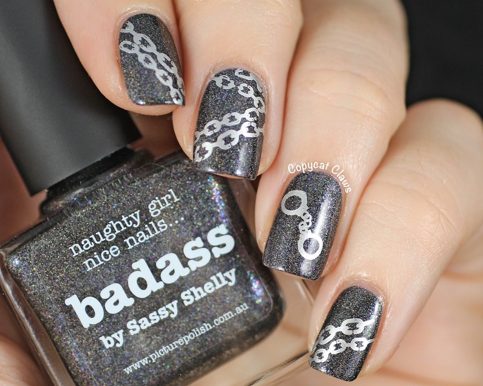 Copycat Claws Sunday Stamping Picture Polish Badass
