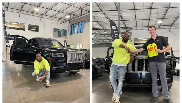 Is it the car Nigerians are Hailing Davido for- Nigerian man Laments after seeing a Rolls Royce similar to Davido's (Video)