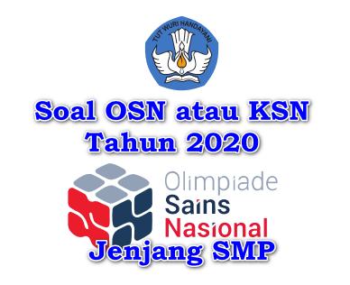 Download soal dan pembahasan contoh soal latihan KSM/ OSN SMP Matematika Tahun 2020