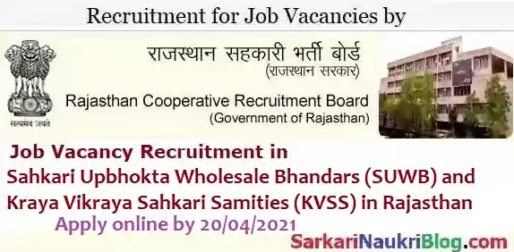 RCRB Cooperative Staff Job recruitment 2021