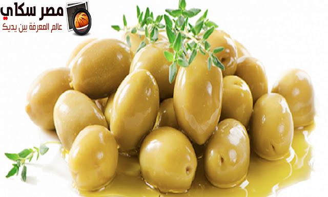 مخلل الزيتون الأخضر وخطوات التحضير olive