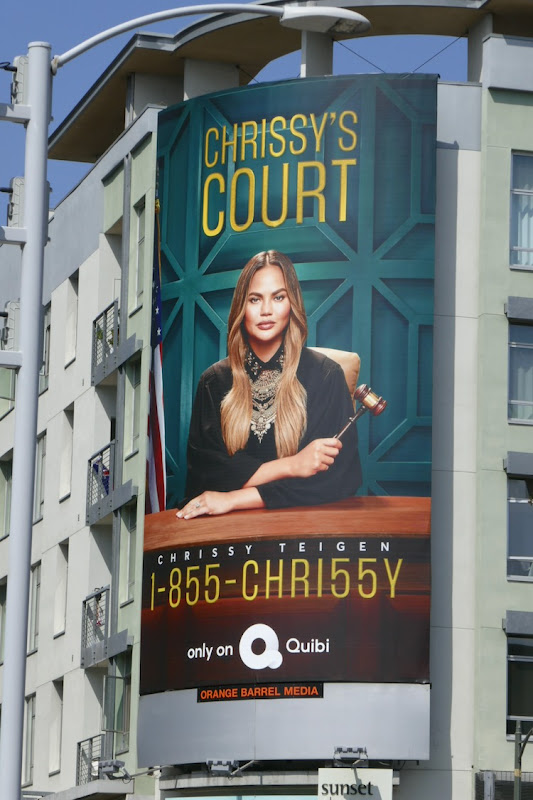 Chrissys Court Quibi series launch billboard