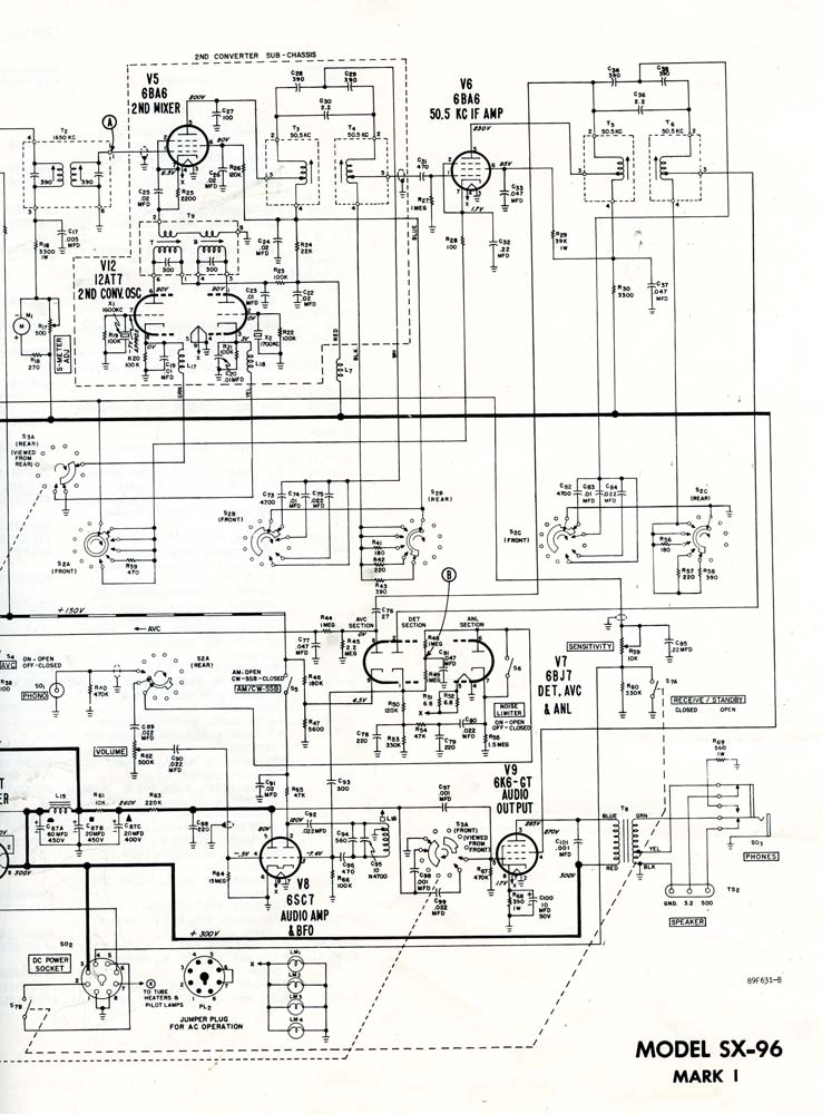 vacuum tube radios  test equipment  and random analog projects  hallicrafters sx
