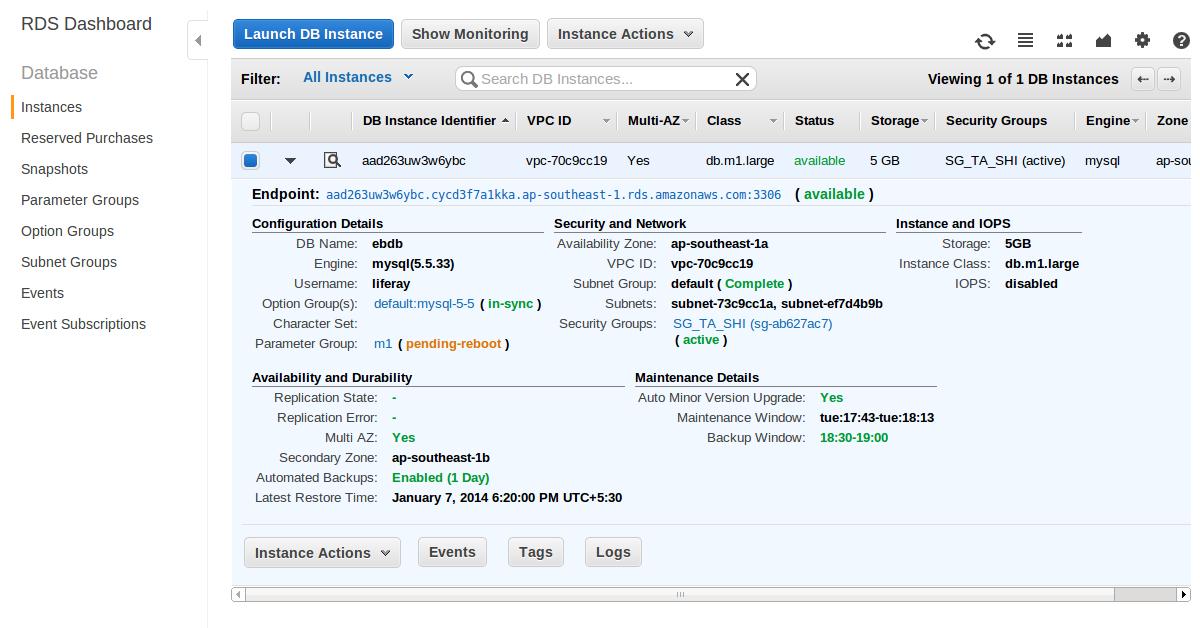 Liferay Portal / News: Liferay on AWS Elastic Beanstalk, Configure