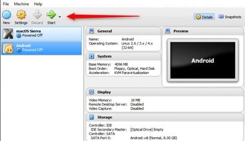 Cara Install Android di VirtualBox