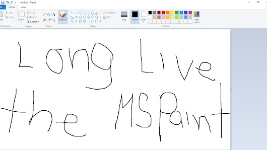 Microsoft Paint will stay and never be remove