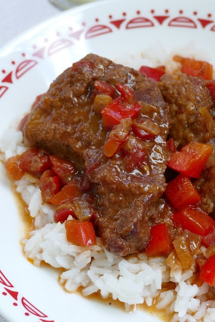 steak served on a plate.