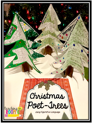 Creating a figurative language poetry craft for the holiday season
