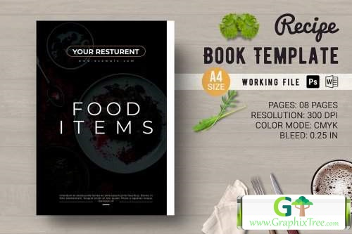 Recipe Book Template [Powerpoint] [Indesign & Powerpoints]