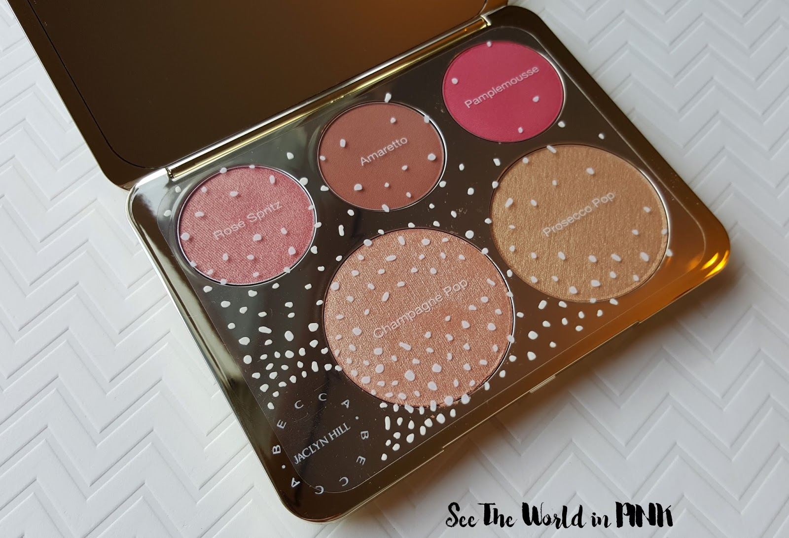 becca x jaclyn hill champagne glow collection face palette review